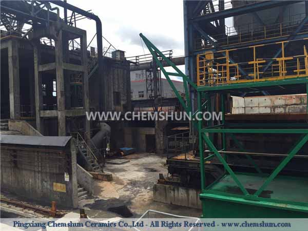 Pingxiang Chemshun alumina ceramic wear resistant tiles for Coking Plant