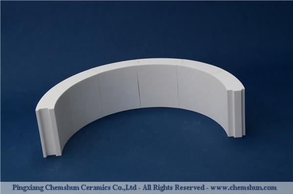 Pingxiang chemshun abrasion resistant high alumina ceramic lining