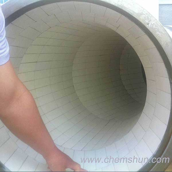 Pingxiang chemshun ceramic tile lined steel pipe as mining wear parts