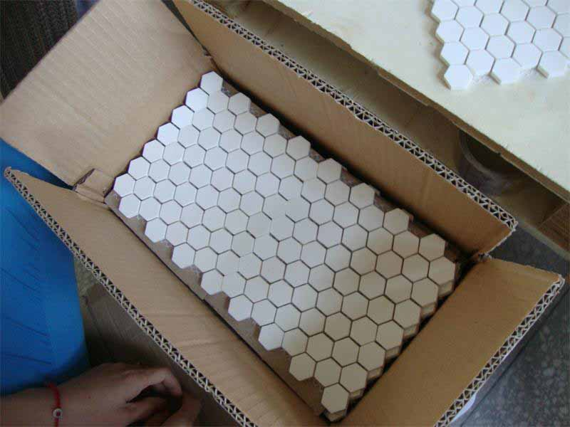 packange of Alumina Ceramic Mosaic Sheet