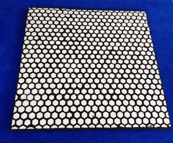 hexagonal rubber wear plate