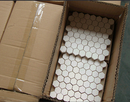Abrasive Hex lining mat package