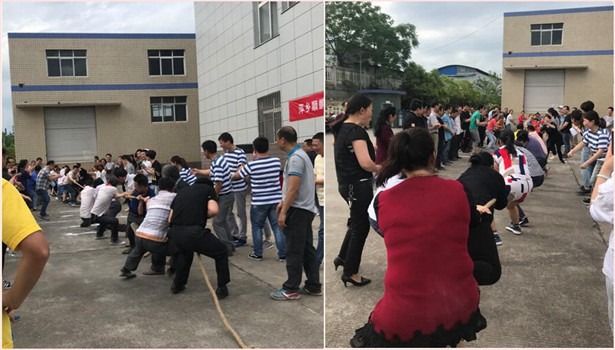 Pingxiang chemshun ceramics the 1st Tug-of-war sports showed on May 11th 2018