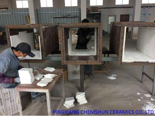 weldable alumina tile installation