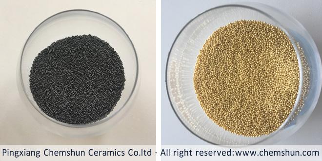 Ceria stabilized zirconia beads