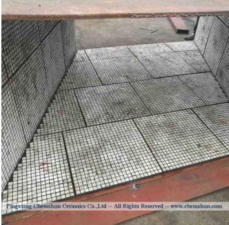 chemshun ceramic rubber composite chute liner