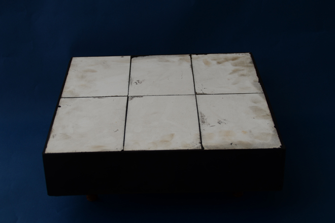 Ceramic composite rubber wear liner