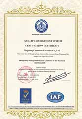 Chemshun ISO9001 Certificate