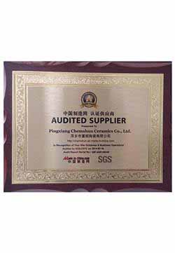 Chemshun SGS Audited Supplier Certificate