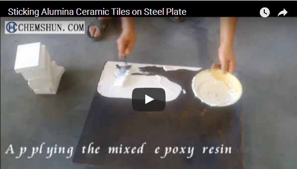 Sticking Alumina Ceramic Tiles on Steel Plate
