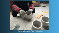 Abrasion Resistant Ceramic Pipe Liner Production
