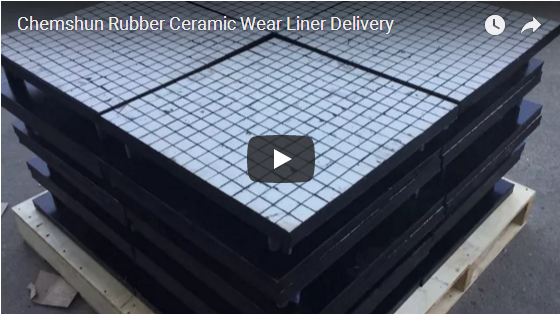 Chemshun Rubber Ceramic Wear Liner Delivery