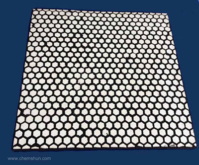 Hex Rubber Ceramic Wear Plate