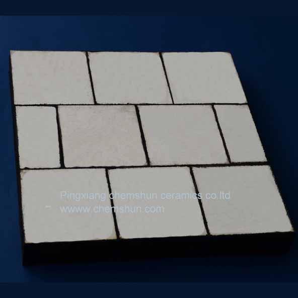 95%Al2O3 Ceramic Rubber Wear Liner With Bolt