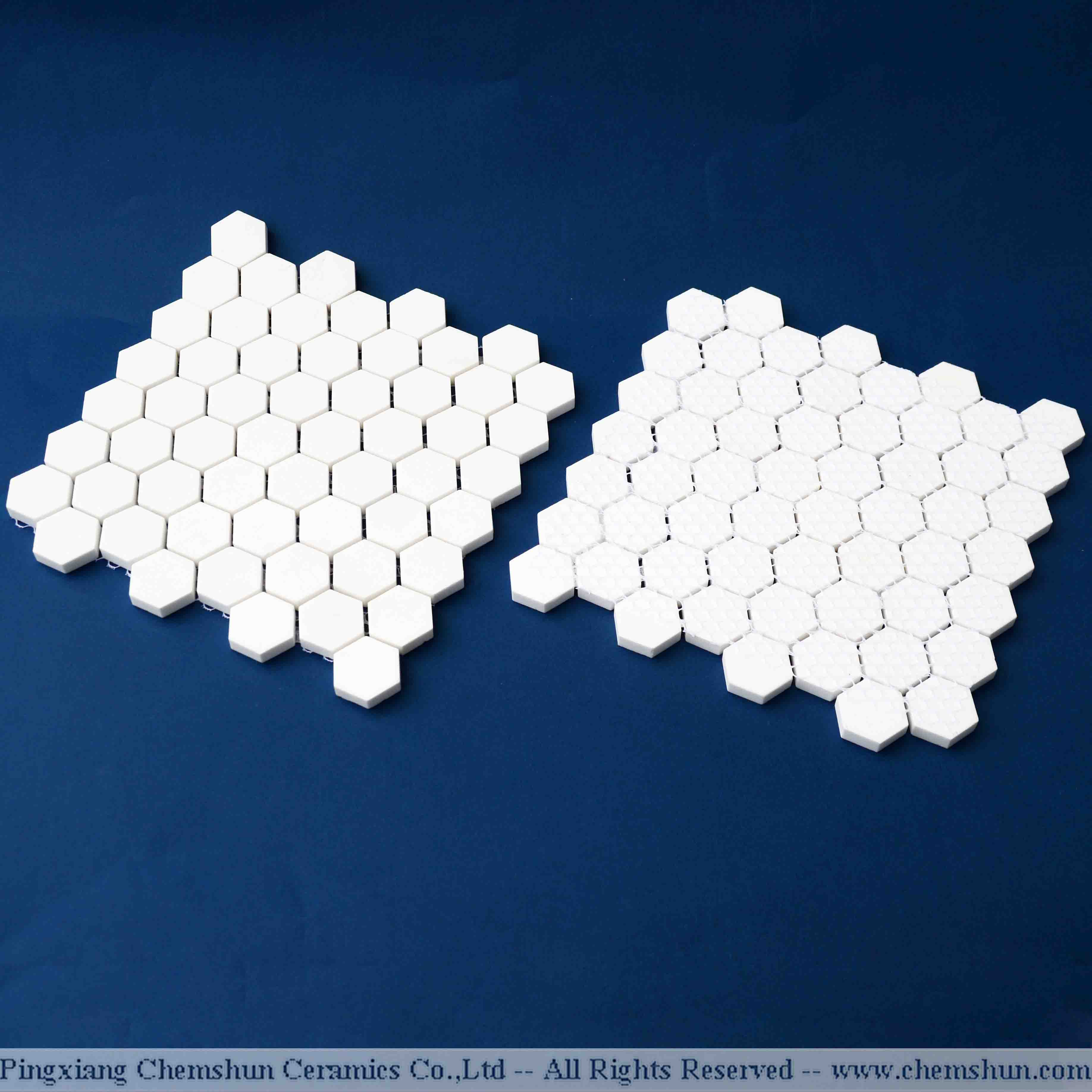 Hexagonal Ceramic Tile Mat