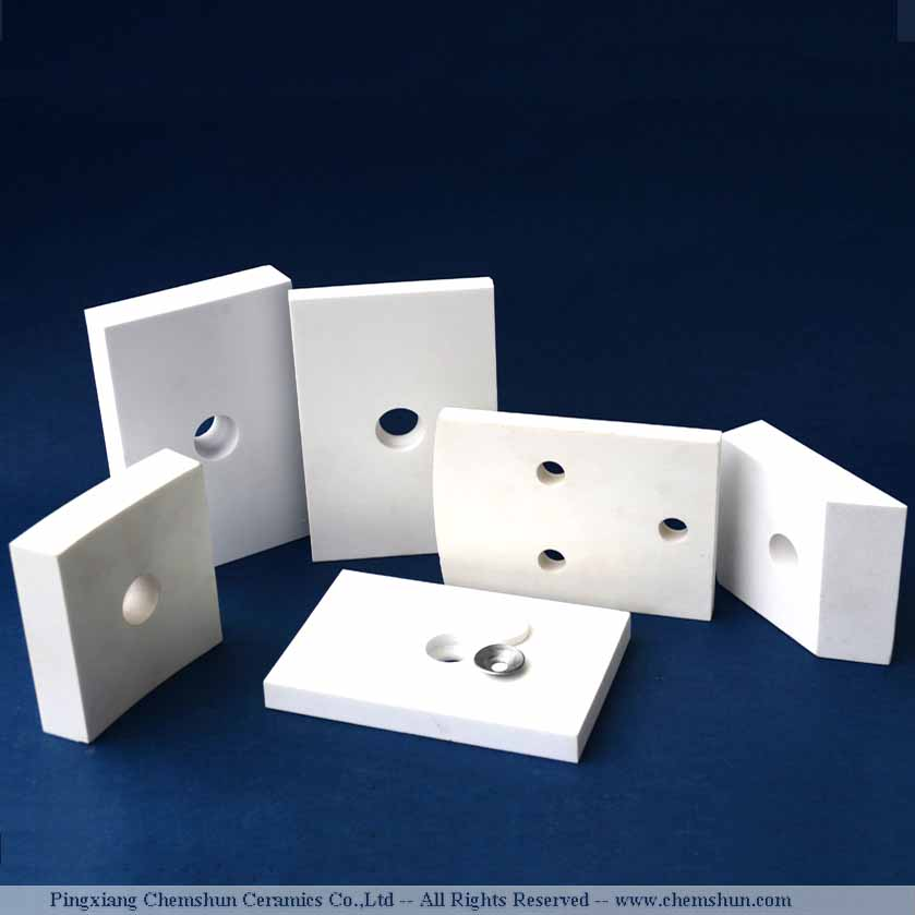 Weldable alumina tile